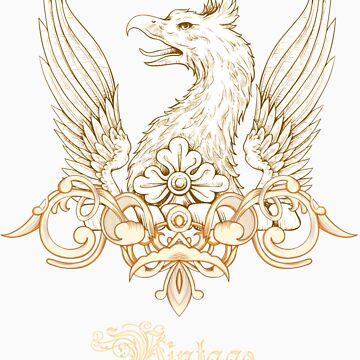 Vintage Heraldry Griffin Crest by seldred80