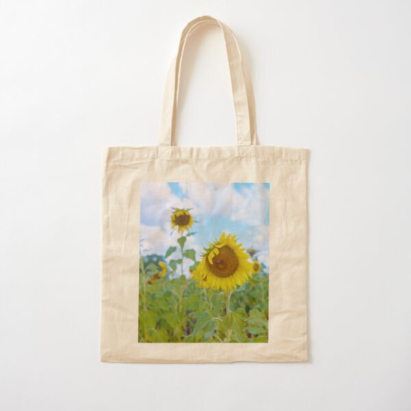 Sun Flower Field Cotton Tote Bag