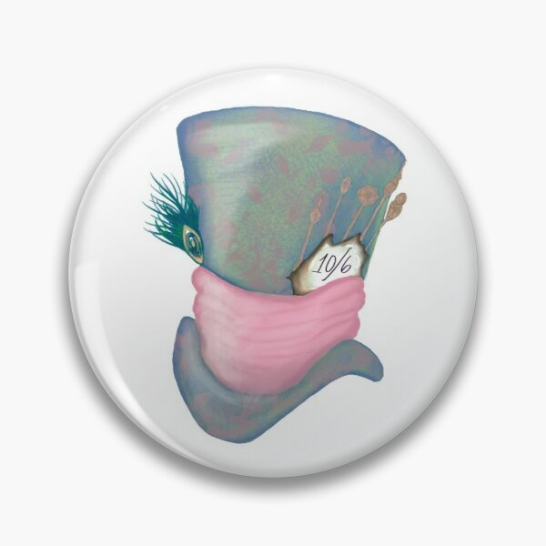 Mad Hatter (Patterned) Pin