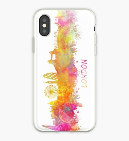 London Skyline pastel iPhone Case