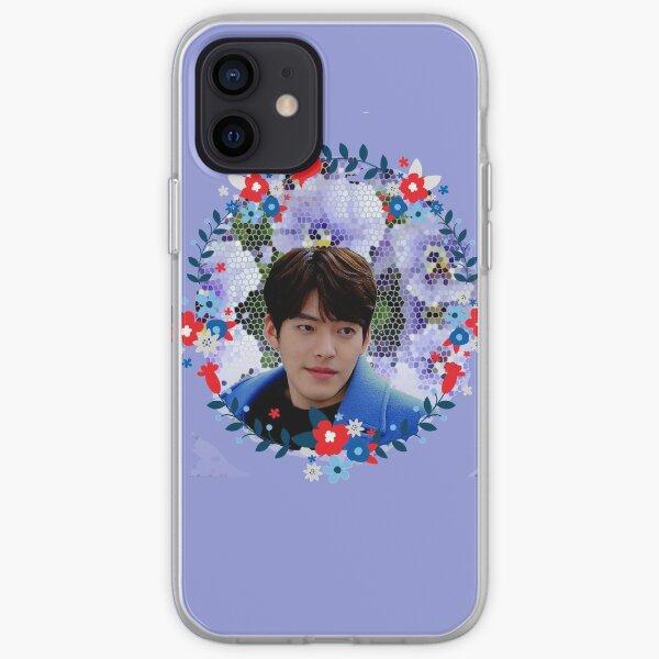[Kim Woo Bin + Blue Flowers] iPhone Soft Case