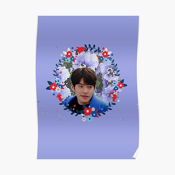 [Kim Woo Bin + Blue Flowers] Poster