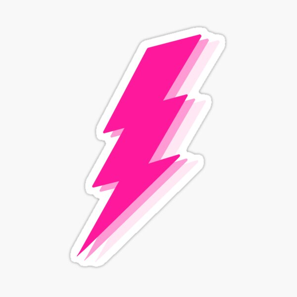 Pink Lightning Bolt Sticker