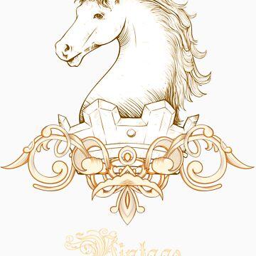 Vintage Heraldry Horse Crest by seldred80