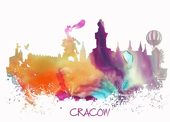 Cracow Poland skyline by JBJart