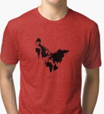 Continent Chicken Tri-blend T-Shirt