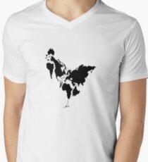 Continent Chicken Men's V-Neck T-Shirt