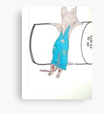 Mouse who wanted a cookie Metal Print