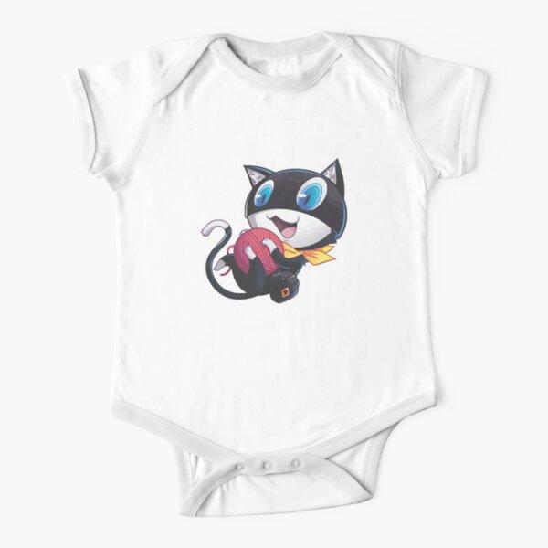 cute black cat Short Sleeve Baby One-Piece