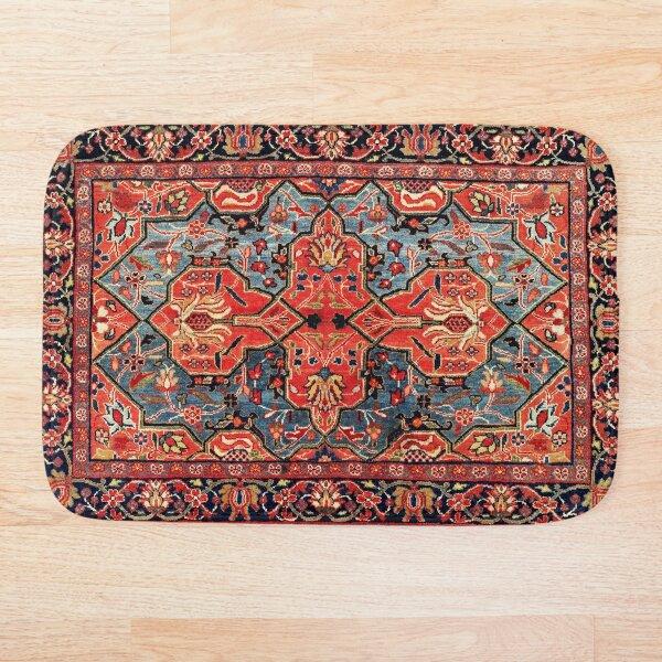 Kashan Poshti Central Persian Rug Print Bath Mat