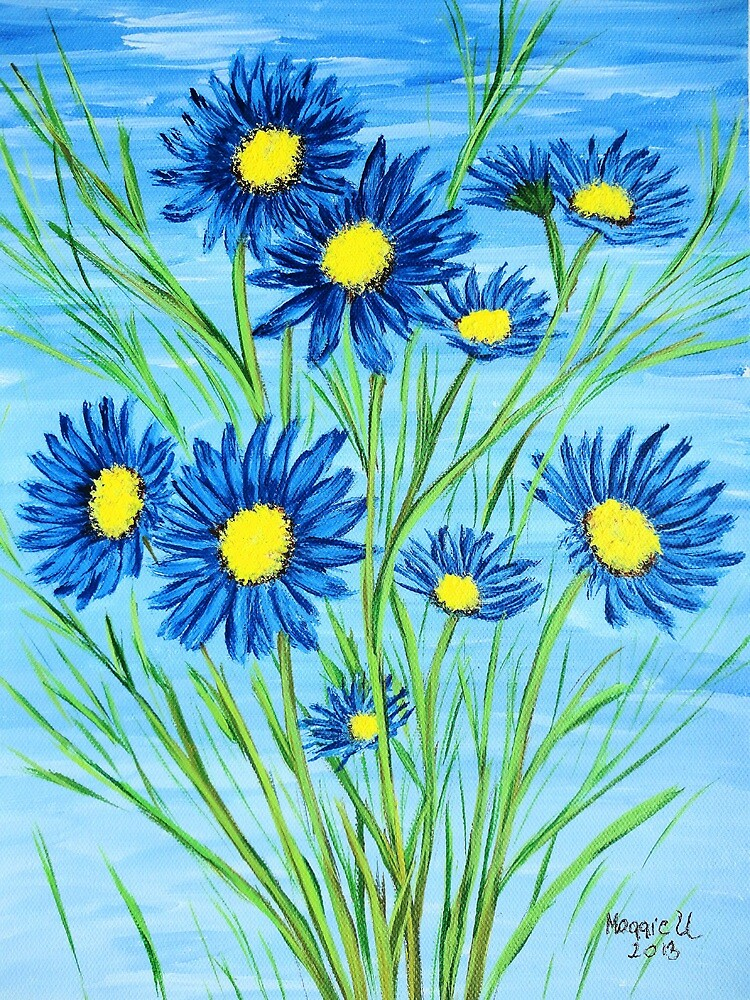 Blue Daisies  by maggie326
