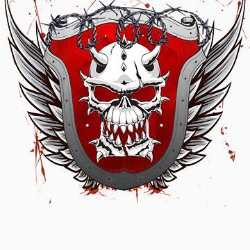 Heraldry Skull Shield Grunge by seldred80