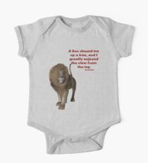 Lion Inspirational Confucius Quote One Piece - Short Sleeve