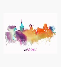 Warsaw Poland skyline Photographic Print