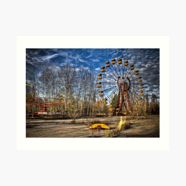 Prypiat/Chernobyl Abandoned Ferris Wheel Art Print