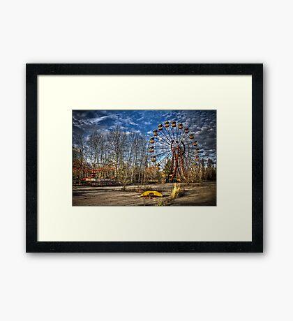 Prypiat/Chernobyl Abandoned Ferris Wheel Framed Print