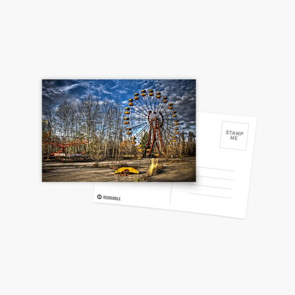 Prypiat/Chernobyl Abandoned Ferris Wheel Postcard