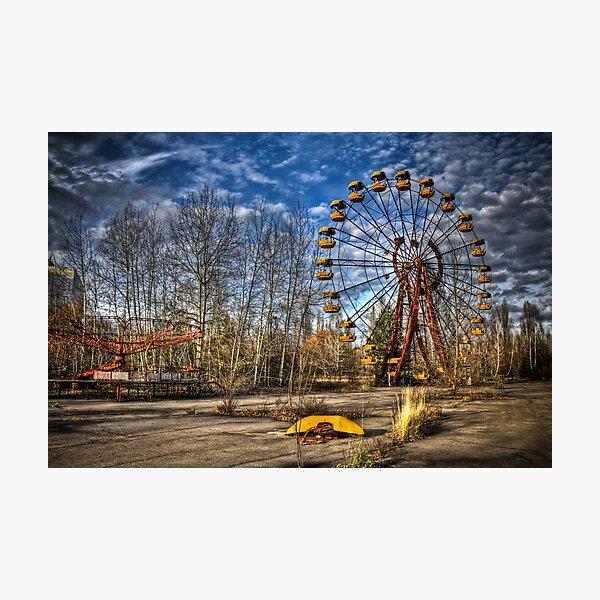 Prypiat/Chernobyl Abandoned Ferris Wheel Photographic Print