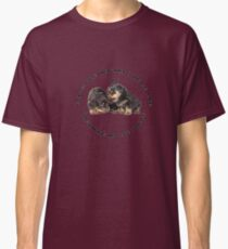 Dogs Make My Life Whole With Cute Rottweiler Puppies Classic T-Shirt