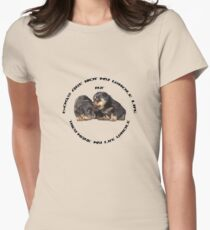 Dogs Make My Life Whole With Cute Rottweiler Puppies T-Shirt