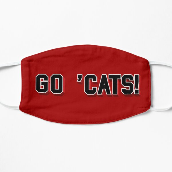 Go Cats text in black  Mask