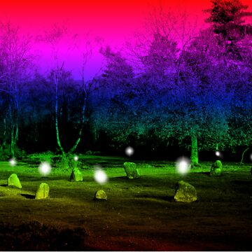 Nine Ladies Stone Circle by coshvomit