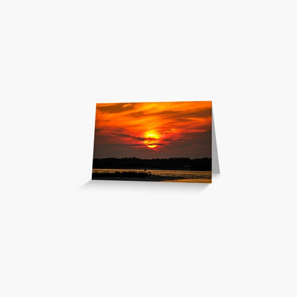 Fort Pickens Sunset Greeting Card