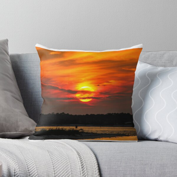 Fort Pickens Sunset Throw Pillow