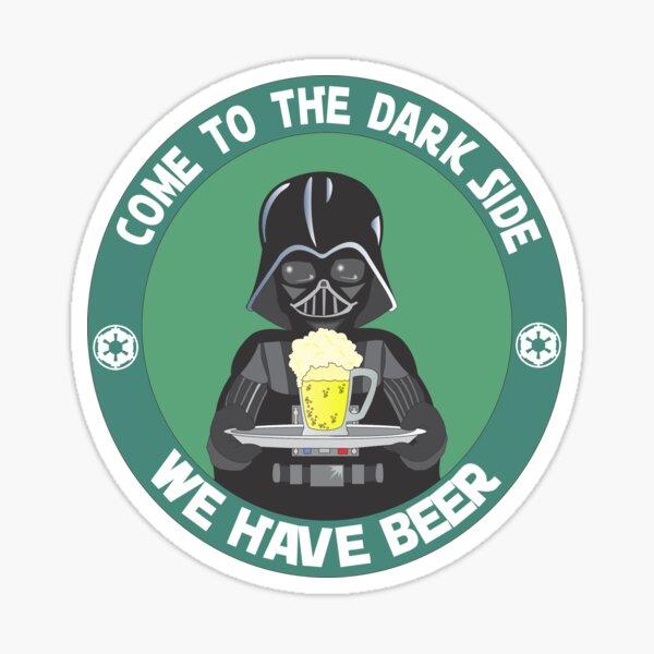 Bière brune (nous avons de la bière) Sticker