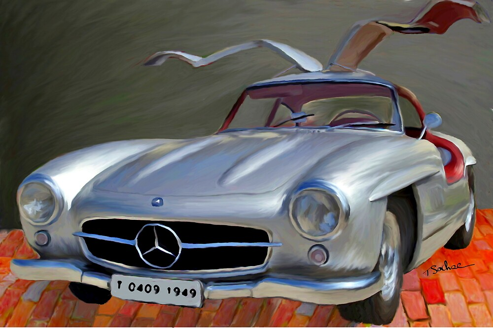 Mercedes 300 SL Gullwing  by Tom Sachse