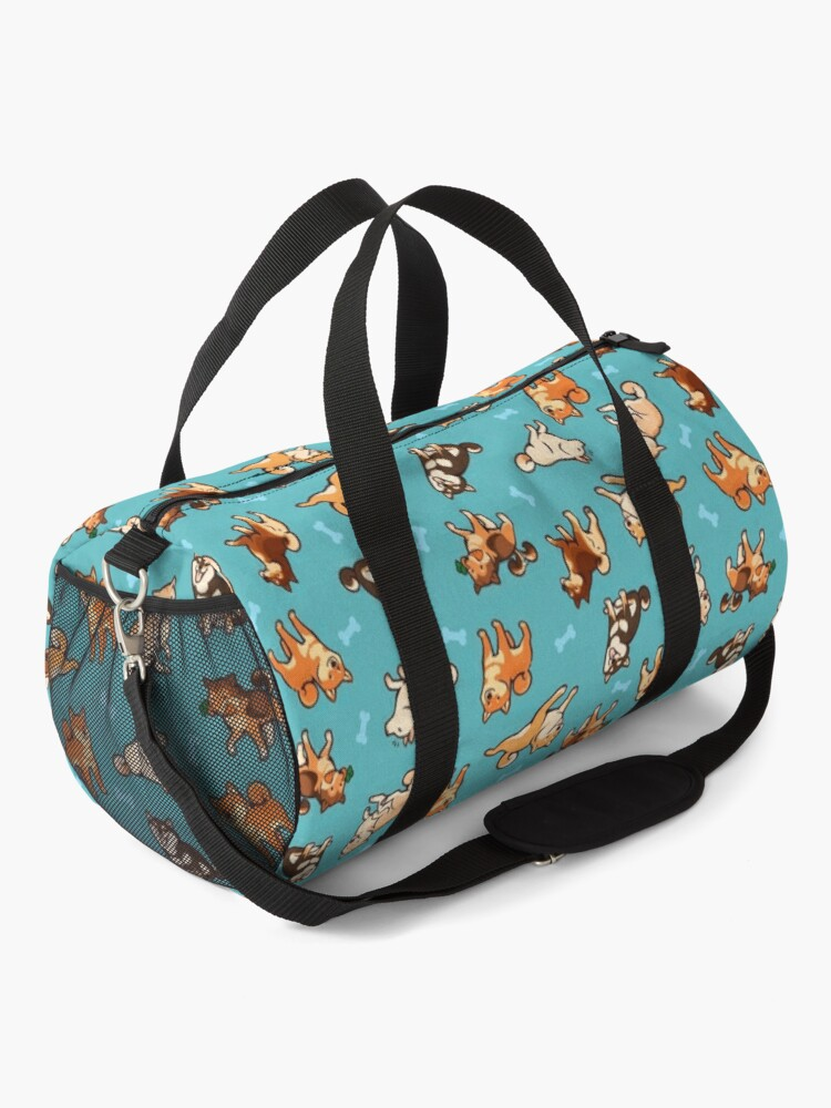 Alternate view of shibes in blue Duffle Bag