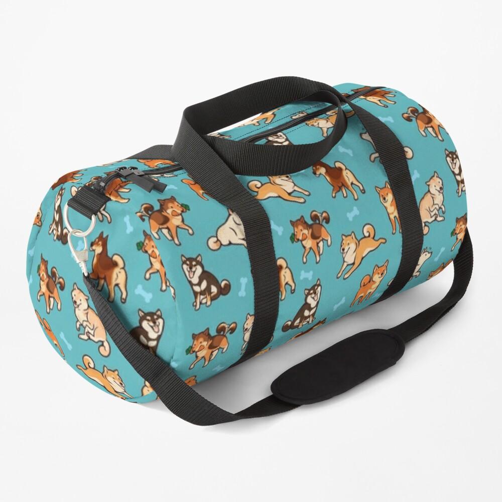 shibes in blue Duffle Bag