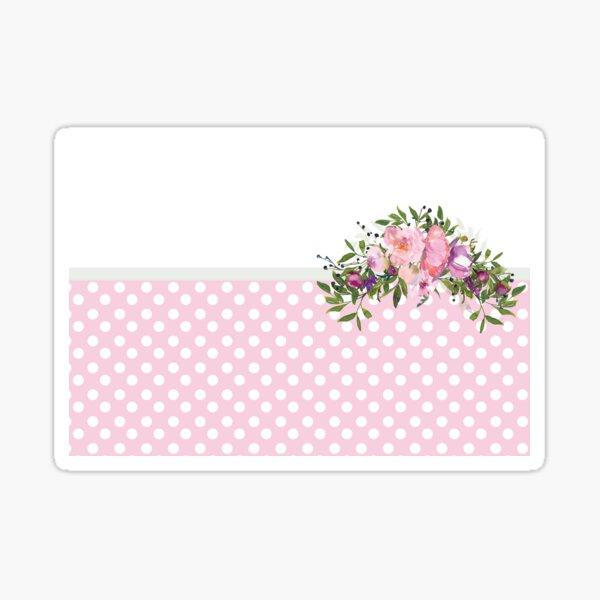 PolkaDots and Watercolors Sticker