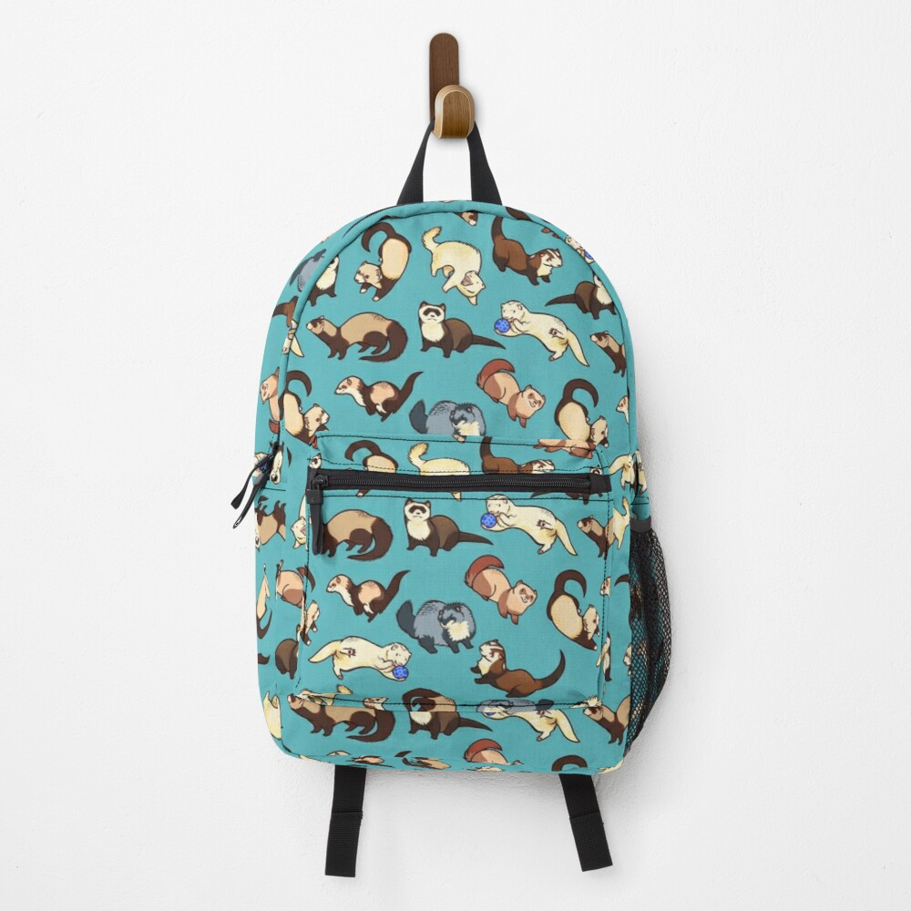 cat snakes in blue Backpack