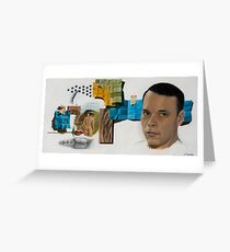 Cubo-Metaphysical Double Self-Portrait Greeting Card