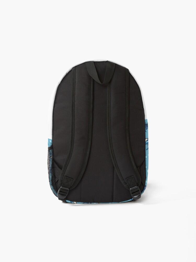 Alternate view of Sharks in the light blue Backpack