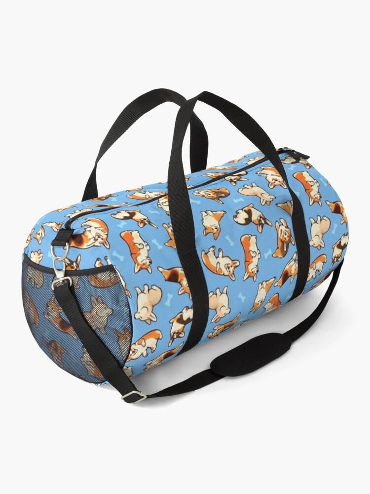 Alternate view of Jolly corgis in blue Duffle Bag