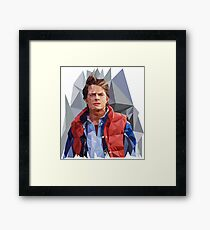 Marty McFly Polygons Framed Print