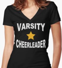 Varsity Cheerleader Women's Fitted V-Neck T-Shirt
