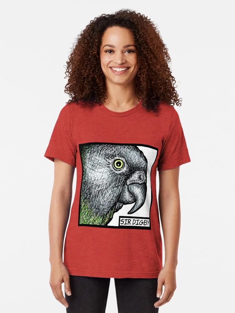 "Alternate view of ""Sir Digby, 2014"" Tri-blend T-Shirt"