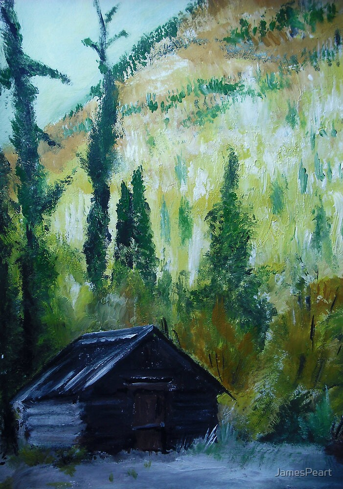 Ghost Town Capitol City Colorado USA Acrylic Painting by JamesPeart