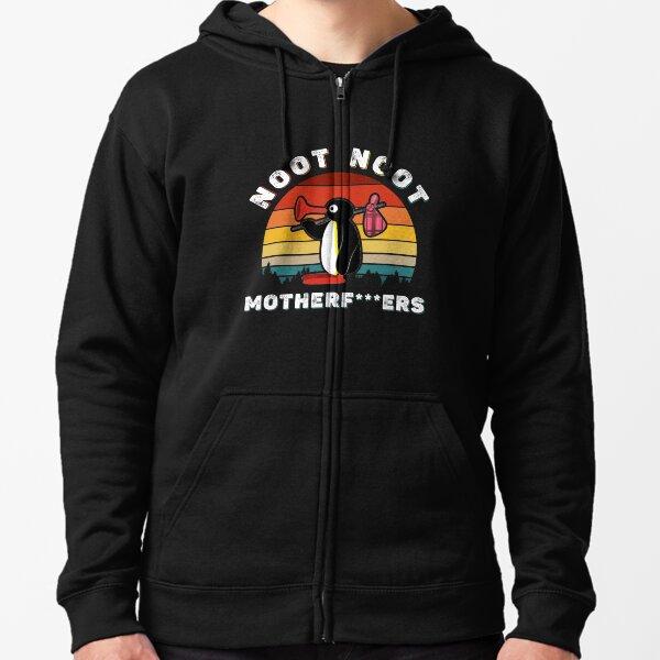 Noot Noot Pingu Shirt Noot Meme Gift, Pingu Noot Noot Motherf  Zipped Hoodie
