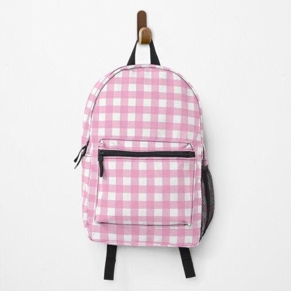 Pink Gingham Backpack