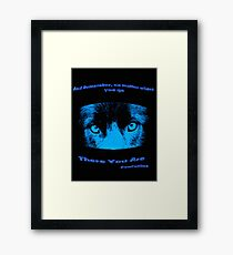 Inspirational Reflection Confucius Quote Framed Print