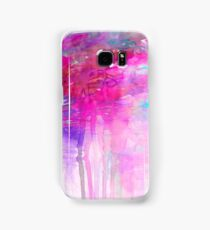 CARNIVAL DREAMS 1 Girly Bubblegum Pink Pastel Sky Whimsical Clouds Abstract Watercolor Painting Samsung Galaxy Case/Skin