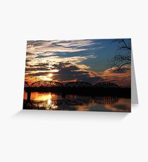 Ohio River Sunsets Greeting Card
