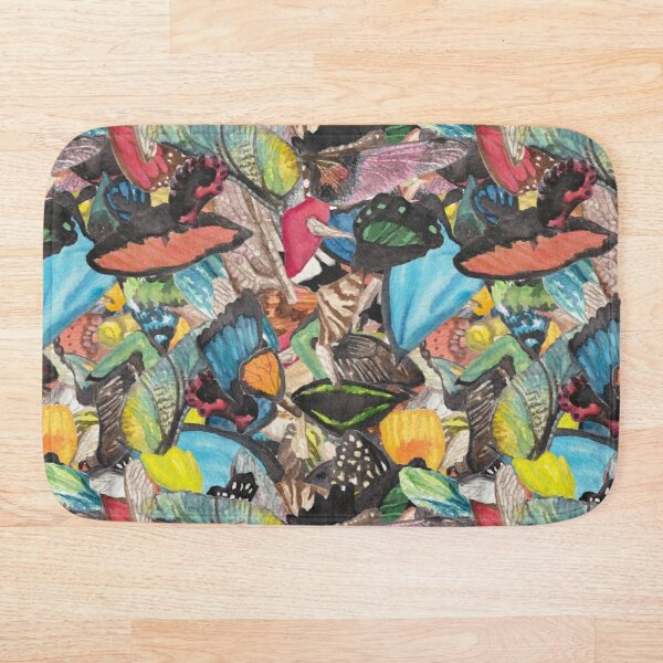Swirling Wings Bath Mat