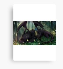 Toothless Mosaic Canvas Print