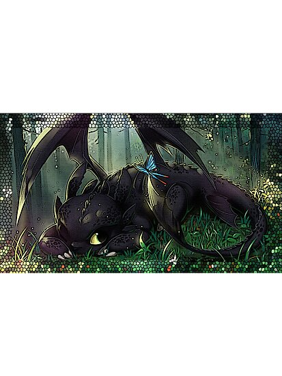 Toothless Mosaic by Geckoface
