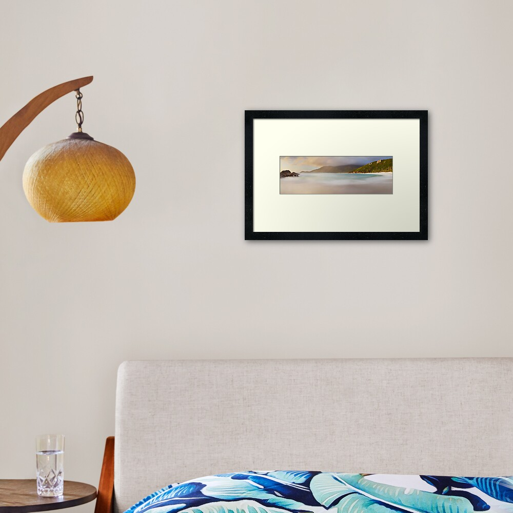 Dawn greets Little Waterloo Bay, Wilsons Promontory, Victoria, Australia Framed Art Print